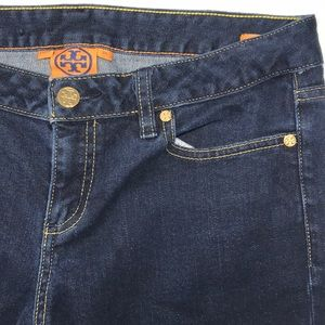 Tory Burch Cropped Slim Skinny Jeans